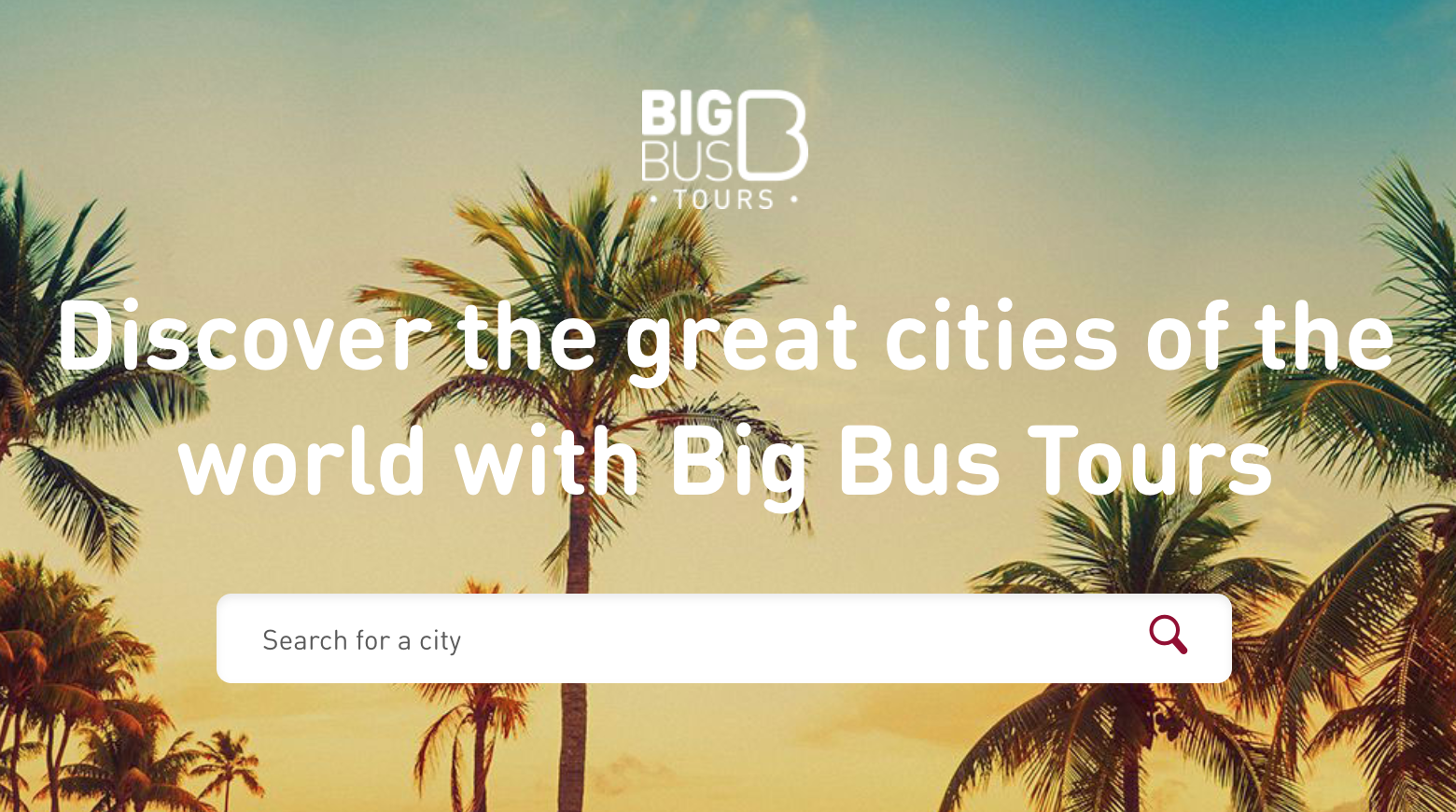 Big bus tours website