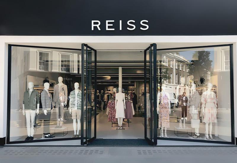 Reiss fashion brand store front