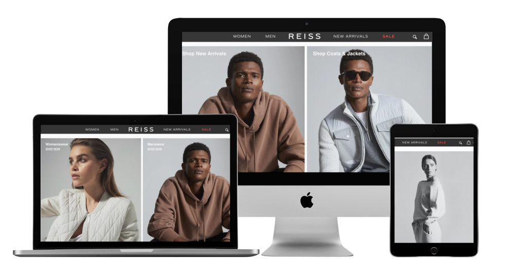 Reiss website on multiple devices